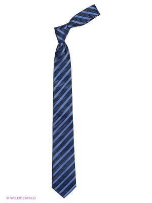 Галстук Cleverly. Цвет: синий, антрацитовый, голубой