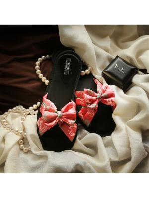 Домашняя обувь Petit Pas. Цвет: малиновый