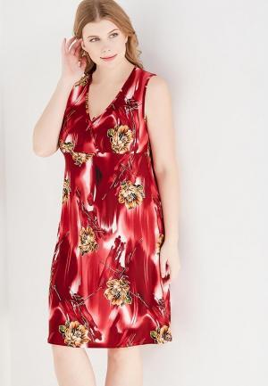 Сорочка ночная Cleo. Цвет: бордовый