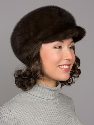 Шапка Slava Furs. Цвет: темно-коричневый