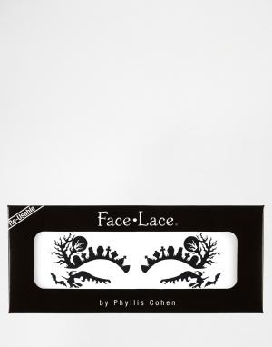 Facelace Украшения для лица на Хеллоуин Face Lace Halloween Broomchicks. Цвет: broomchicks