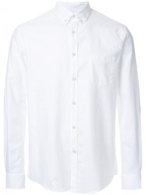 Рубашка с воротником-на пуговицах Sunspel. Цвет: белый