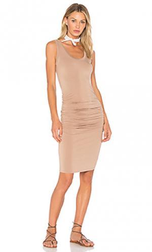 Платье frankie LA Made. Цвет: цвет загара