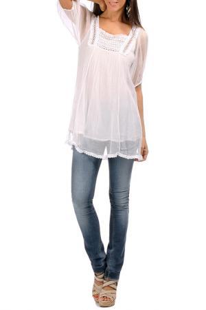 Блуза Laklook. Цвет: белый