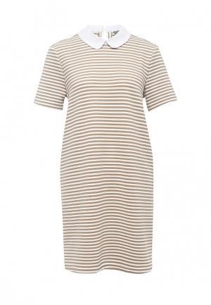 Платье Vero Moda. Цвет: бежевый