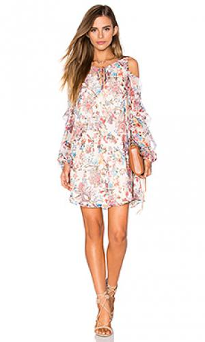 Мини платье the flower in sun Haute Hippie. Цвет: ivory