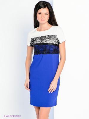 Платье Personage. Цвет: синий, молочный, черный