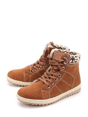 Ботинки LETMI. Цвет: коричневый