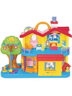 Игра Занимательный дом Kiddieland. Цвет: желтый, голубой