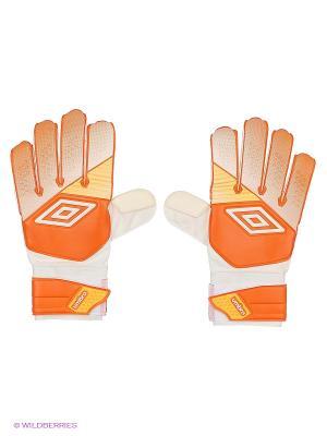Вратарские перчатки Umbro. Цвет: оранжевый