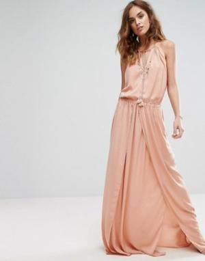 The Jetset Diaries Платье макси Omara. Цвет: розовый