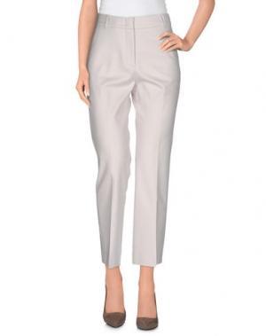 Повседневные брюки CAPPELLINI by PESERICO. Цвет: светло-серый