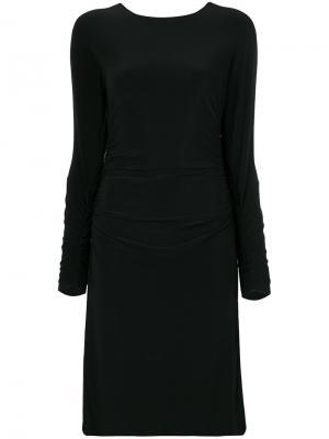 Платье со сборками Norma Kamali. Цвет: чёрный