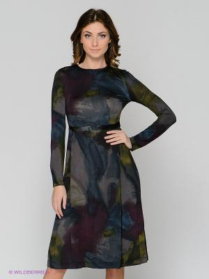 Платье ЭНСО. Цвет: темно-синий, фиолетовый
