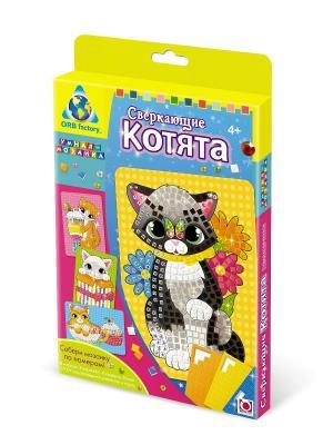 The ORB Factory. Мозаика-набор Сверкающие котята (4 шт.) factory. Цвет: черный, желтый, белый