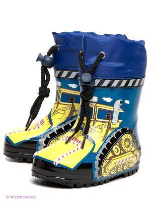 Сапоги El Tempo. Цвет: желтый, синий