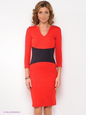 Платье Анна Чапман. Цвет: красный