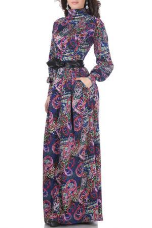 Платье Olivegrey. Цвет: сине-сиреневый