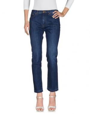 Джинсовые брюки CRIPPEN. Цвет: синий