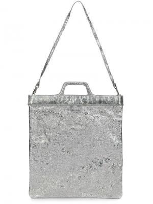 Маленькая сумка Foil Cooling Zilla. Цвет: металлический