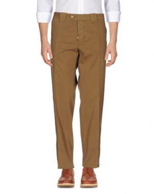 Повседневные брюки BARBA Napoli. Цвет: хаки