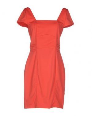 Короткое платье ANGEL EYE. Цвет: коралловый