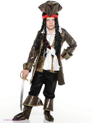 Карнавальный костюм Капитан Джек Воробей Батик. Цвет: коричневый