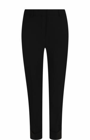 Укороченные шерстяные брюки прямого кроя Theory. Цвет: черный