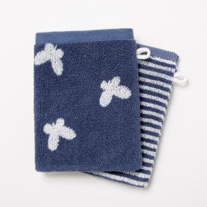 Комплект из 2 банных рукавичек махровой ткани, 500 г/м² - CANELO (lot de 2) La Redoute Interieurs. Цвет: серо-бежевый