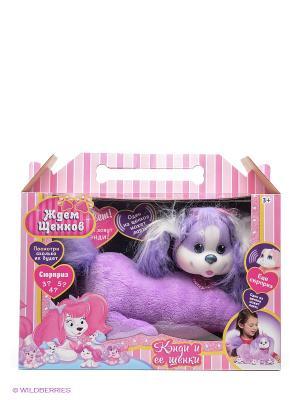 Набор Собачка Кэнди и ее щенки Just Play. Цвет: темно-фиолетовый