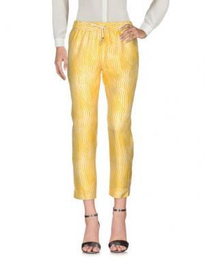Повседневные брюки CAPRI. Цвет: желтый