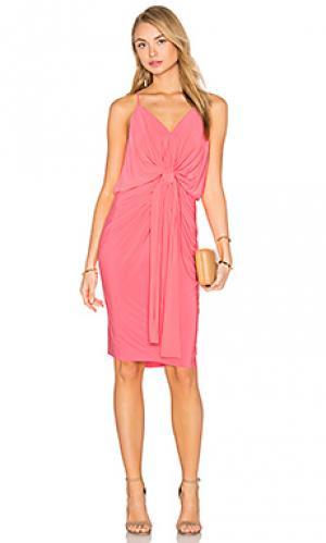 Платье миди domino MISA Los Angeles. Цвет: розовый