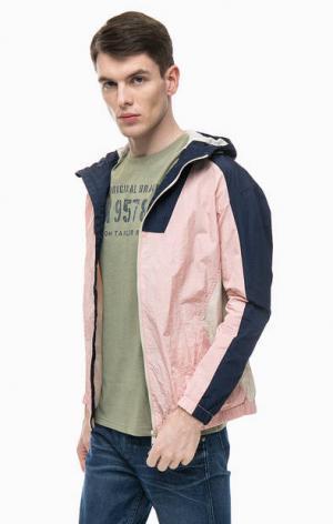Ветровка на молнии с капюшоном Jack & Jones. Цвет: розовый