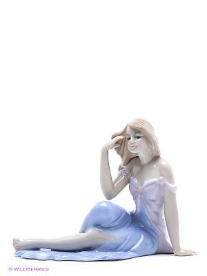 Статуэтка девушки Красивая мечта Pavone. Цвет: голубой, бежевый