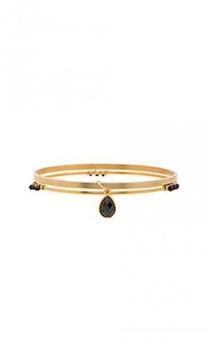 Набор браслетов micah Mimi & Lu. Цвет: металлический золотой