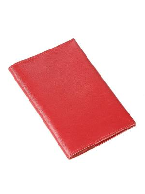 Обложка для паспорта Timeless. Цвет: красный