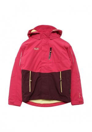 Куртка утепленная Jack Wolfskin. Цвет: фуксия