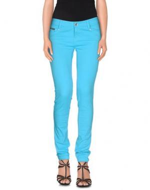 Джинсовые брюки EAN 13. Цвет: бирюзовый