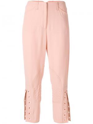 Укороченные брюки с люверсами Fendi. Цвет: розовый и фиолетовый
