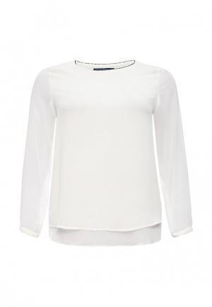 Блуза Emoi Size Plus. Цвет: белый