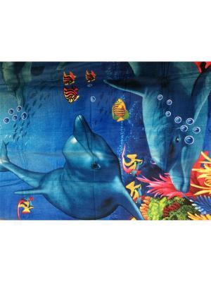 Пляжное полотенце 100*180 Dream time. Цвет: синий, голубой