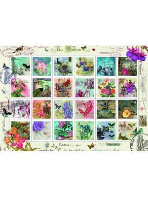 Пазл Колллекция марок 1000 шт Ravensburger. Цвет: зеленый