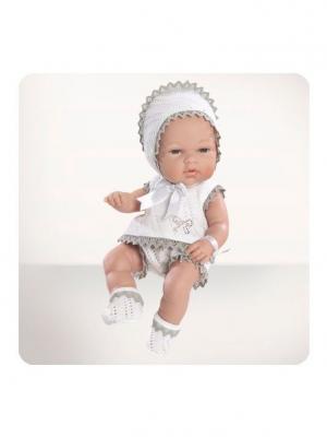 Кукла Arias пупс Elegance, 33 см,Natal Gris, со стразами в бежевом Arias.. Цвет: бежевый