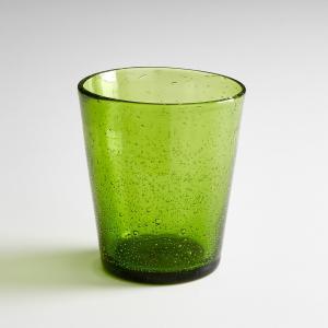 4 стакана для воды  с эффектом пузырьков FARAJI La Redoute Interieurs. Цвет: дымчато-серый,темно-зеленый