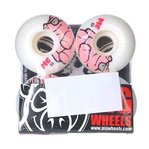 Колеса для скейтборда  White/Pink 101A 53 mm Pig. Цвет: белый,розовый