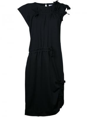 Платье с присборенной отделкой Facetasm. Цвет: чёрный