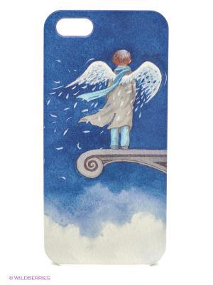 Чехол для IPhone 5 Ангел в небесах Mitya Veselkov. Цвет: синий
