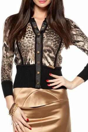 Блуза Gizia. Цвет: коричневый