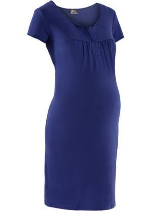 Ночная рубашка для беременных (ночная синь) bonprix. Цвет: ночная синь