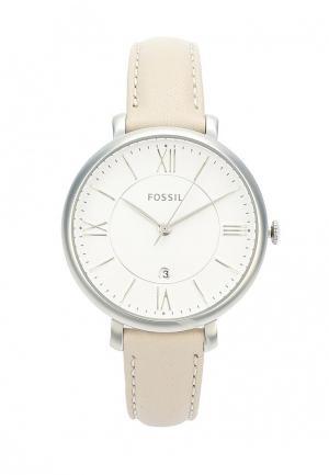 Часы Fossil. Цвет: бежевый